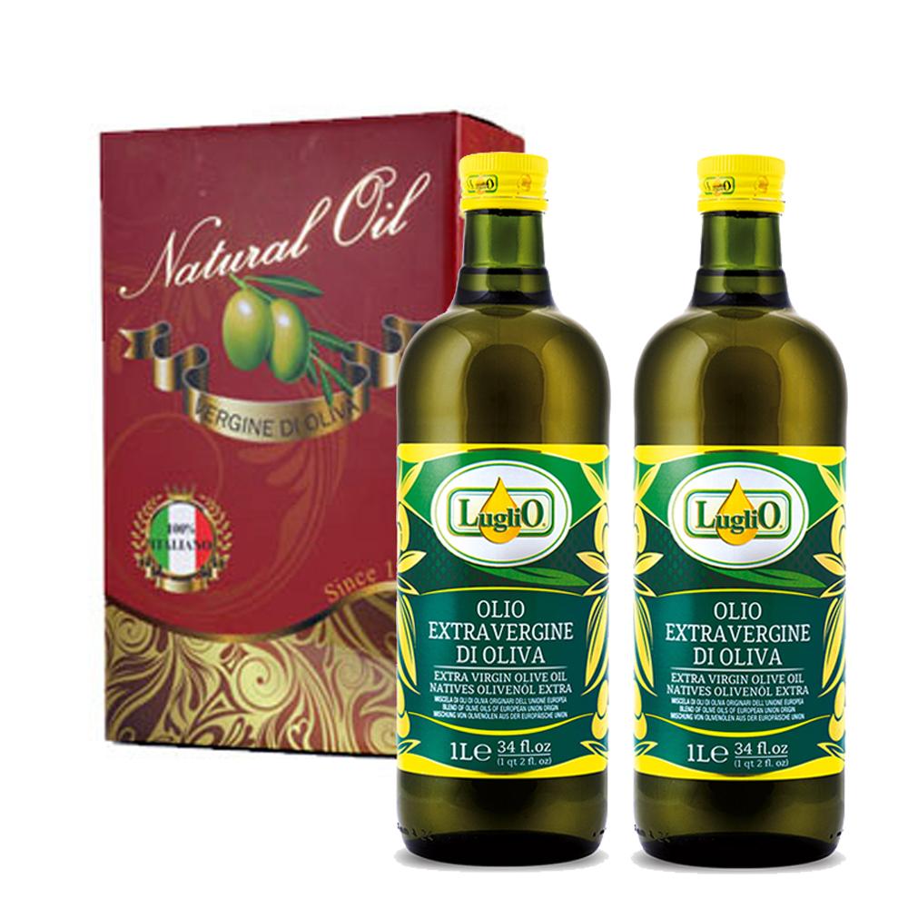 LugliO 義大利羅里奧經典特級初榨橄欖油禮盒組(1000mlx2入)