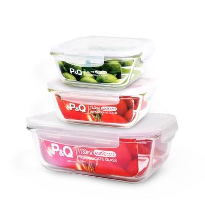 樂扣樂扣 P&Q享食巧收耐熱玻璃保鮮盒3件組(8H)