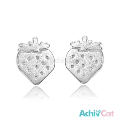 AchiCat 925純銀耳環 草莓
