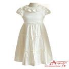 點點針織荷葉領蛋糕洋裝*2207米白