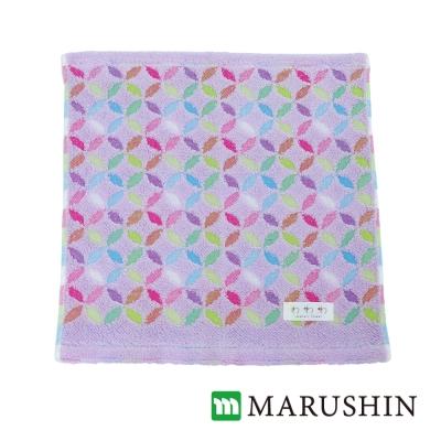 日本丸真 今治方巾 繽紛花火-丁香紫