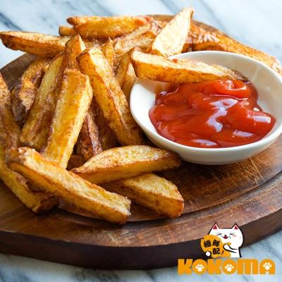 極鮮配 帶皮原塊調味薯條-長條型(300g±10%/包)-8包入