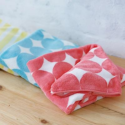 日本CB Japan 泡泡糖 幾何系列超細纖維3倍吸水擦頭巾