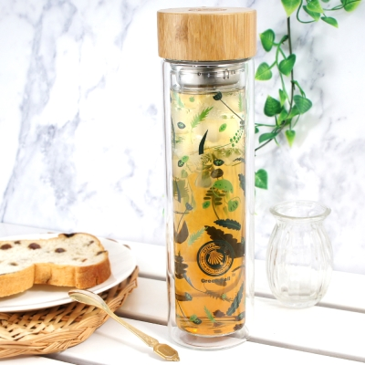 GREEN BELL綠貝 Season雙層玻璃水瓶500ml(涼夏綠)