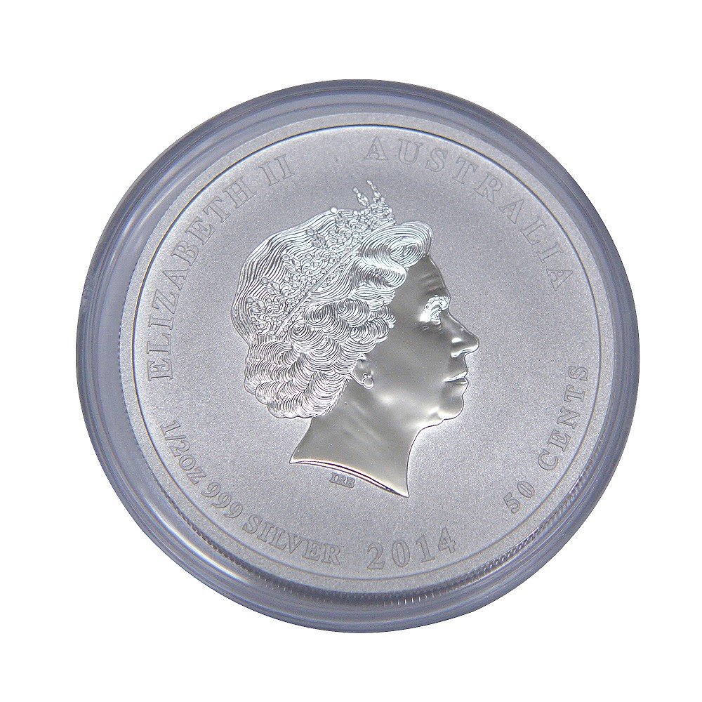 澳洲生肖紀念幣-澳洲2014馬年生肖銀幣(1/2盎司)