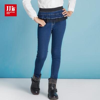 JJLKIDS 帥氣女騎士小紗裙牛仔褲(牛仔藍)