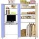 巴塞隆納-W5型90公分-E90公分電腦桌衣櫥架