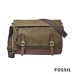 FOSSIL DEFENDER 雙扣側背包-墨綠色