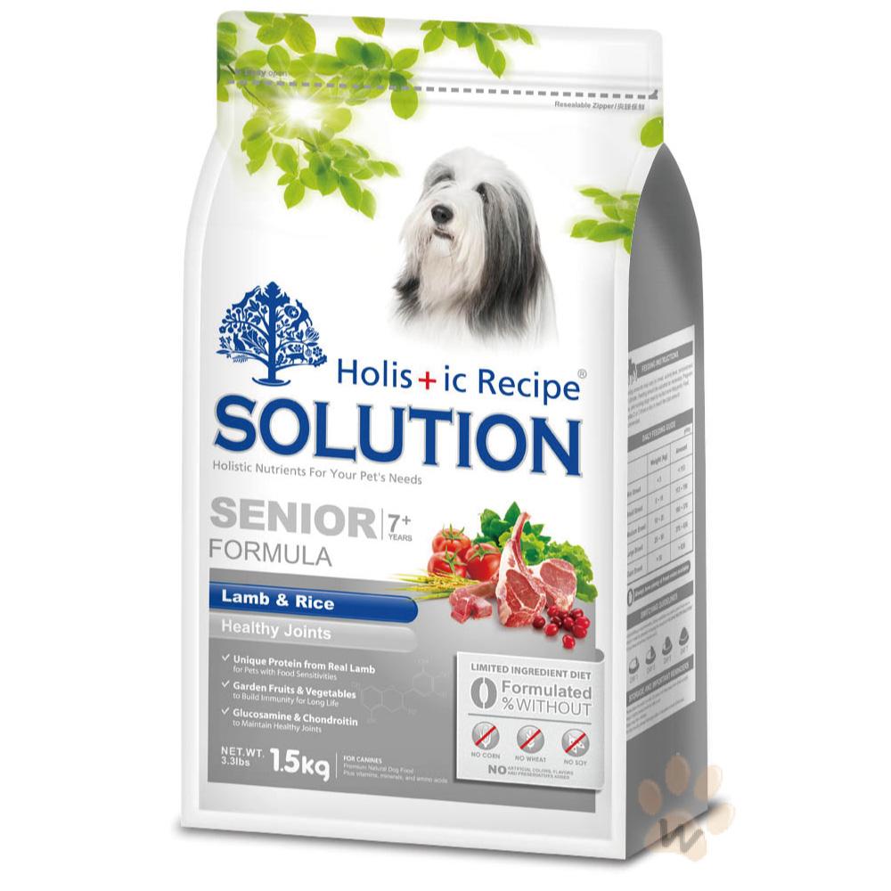 SOLUTION耐吉斯寵物食譜-高齡犬 鮮羊肉+田園蔬果3kg @ Y!購物