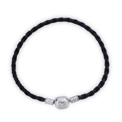 YUME Beads-幾何款黑色編織皮繩手鍊(男款)