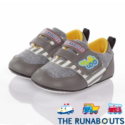 三麗鷗 THE RUNABOUTS  柔軟輕量減壓寶寶學步童鞋-灰