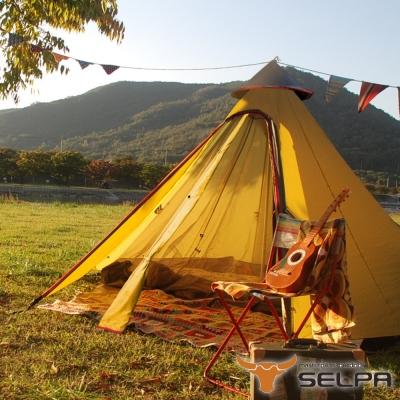 韓國SELPA 一房一廳 印地安帳 露營 帳篷 家庭帳 五人 大型