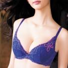 華歌爾-深V感瘦綺肌D-E罩杯內衣(彩繪紫)
