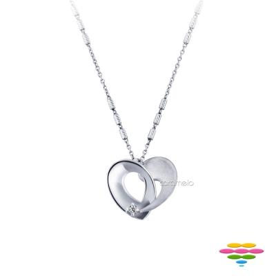 彩糖鑽工坊 愛心鑽石項鍊(18K) 永結同心系列