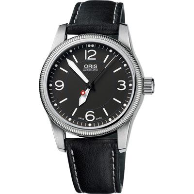ORIS Hunter Team PS 飛行機械腕錶-黑/38mm