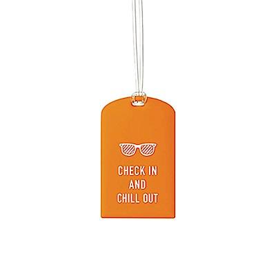 Go Travel Glo 行李吊牌兩件組 - 橘色墨鏡