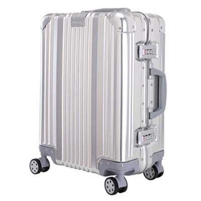 日本 LEGEND WALKER 1510-63-25吋全鋁鎂合金行李箱 合金銀