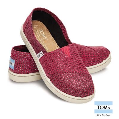 TOMS 千鳥格織紋懶人鞋-孩童款