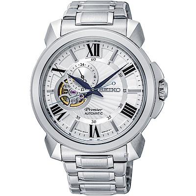 SEIKO精工Premier開芯羅馬機械腕錶(SSA 691 J 1 )- 42 mm