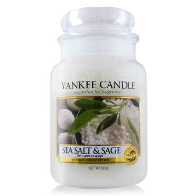 YANKEE CANDLE香氛蠟燭-海鹽與鼠尾草623g