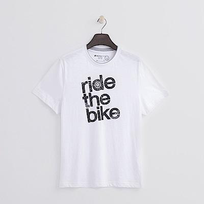 Hang-Ten-男裝-有機棉-單車環遊T恤-白色