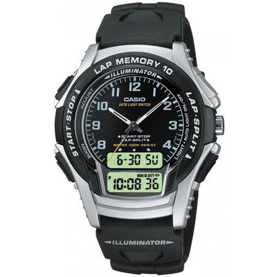CASIO 運動武士指針雙顯錶(WS-300-1)-黑/39mm