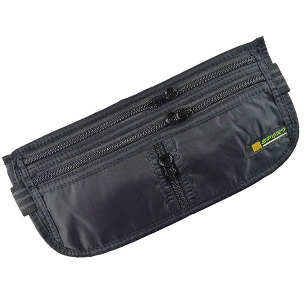 PUSH!嚴選 旅遊用品 3拉鏈6艙室 SPORT 防搶護照隱形貼身腰包