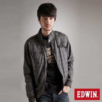 EDWIN帥性格紋防風外套-男款-灰褐