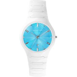 Relax Time Sweet 馬卡龍陶瓷時尚腕錶-藍x白/37mm