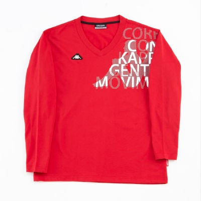 KAPPA 義大利時尚BESTDRY吸濕排汗型男彩色長袖衫~大紅