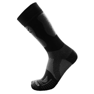 EGXtech《8字型》P84 CREW 長筒機能運動襪(黑L/M)2雙組