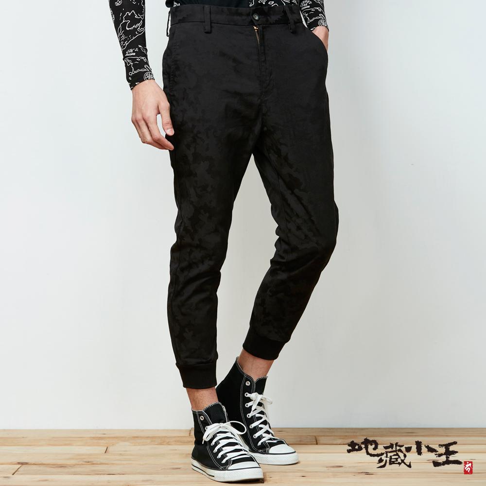 地藏小王 BLUE WAY 擅變我型系列-變色龍透濕透氣西裝運動褲-黑