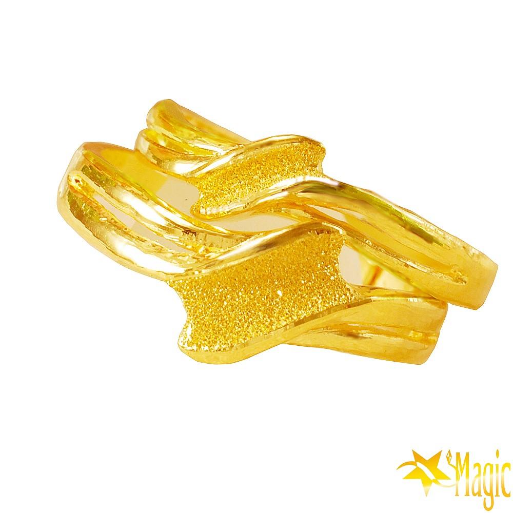 Magic魔法金-愛的音符黃金對戒(約2.1錢)