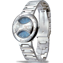 Hanna 獨家專利轉盤式腕錶(亮鋼-飛碟)