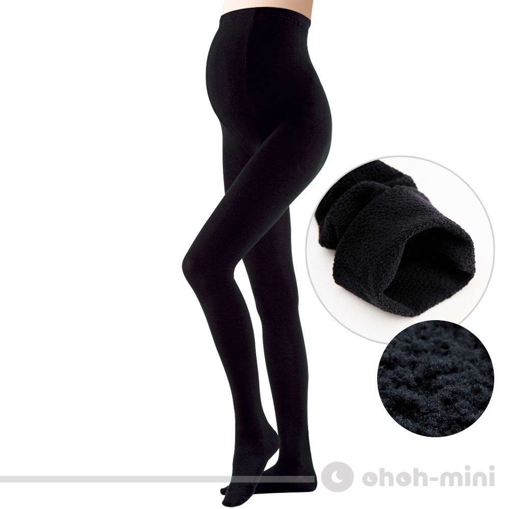 【ohoh-mini 孕婦裝】內刷毛保暖襪