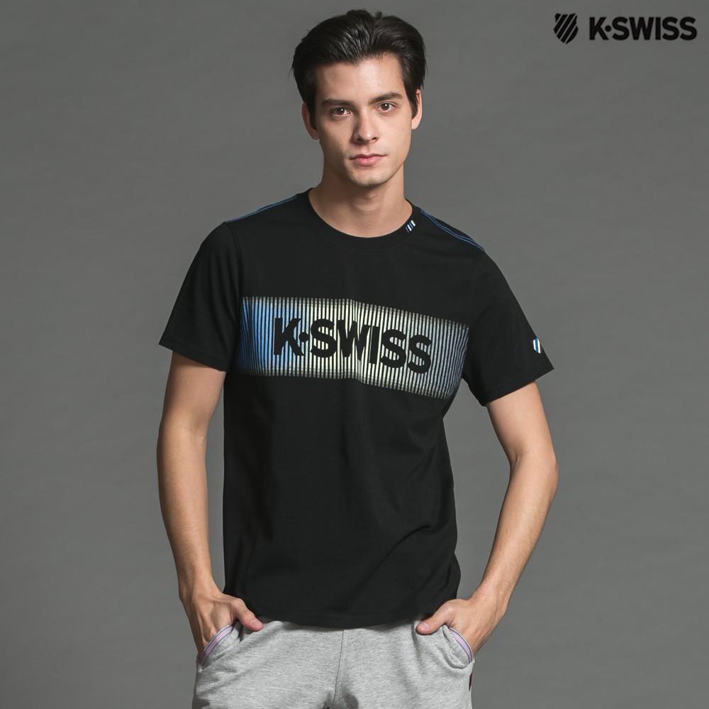 K-Swiss KS Logo Graphic Tee印花短袖T恤-男-黑