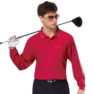 【SPAR】吸濕排汗長袖POLO衫(SP59534、SP77534)紅色