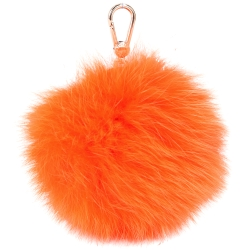 FURLA BUBBLE 狐狸毛球吊飾(橘色)