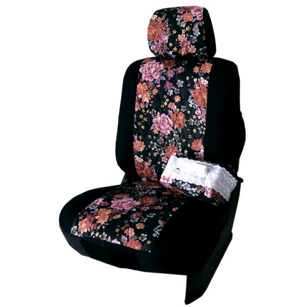 【葵花】量身訂做-汽車椅套-布料-花漾萊卡-轎車款