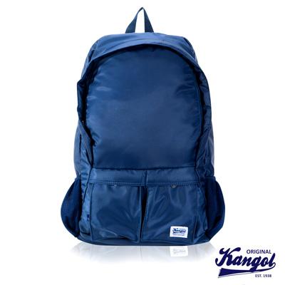 KANGOL 英式時尚輕時尚休閒13吋筆電後背包防潑水尼龍-寶藍