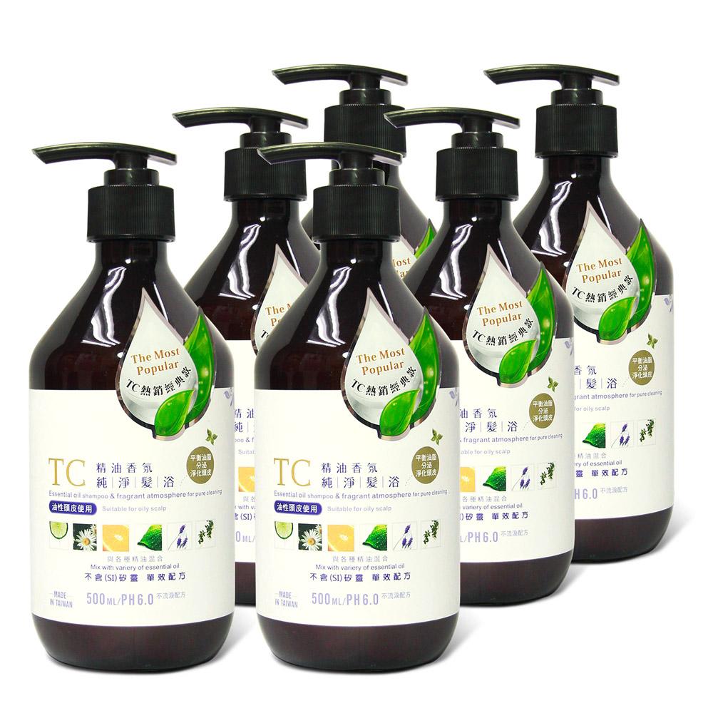 TC系列 精油香氛純淨髮浴(500ml)6入組