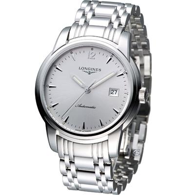 LONGINES Saint-Imier 聖米爾機械腕錶-41mm/銀白