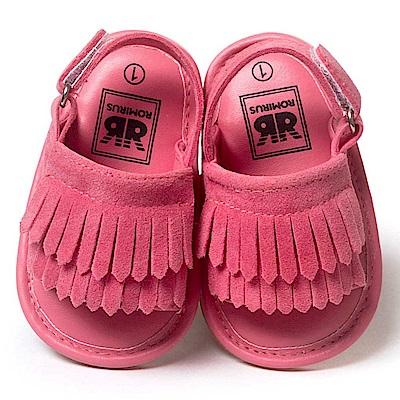Baby unicorn 桃紅雙層流蘇嬰兒涼鞋
