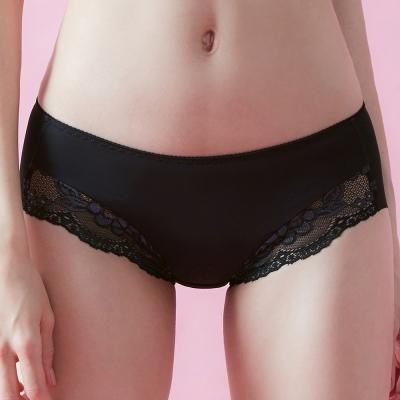 推EASY SHOP-性感香恬 中腰平口褲(時尚黑)