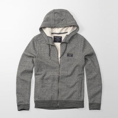 A&F 經典Logo撲棉連帽外套-灰色 AF Abercrombie