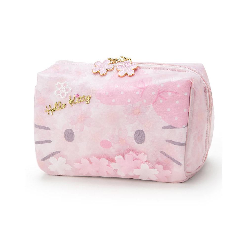 Sanrio HELLO KITTY春之櫻系列大臉造型大開口化妝包