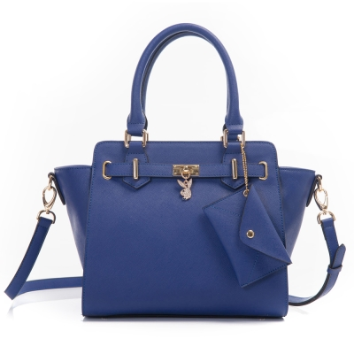 PLAYBOY-Style-Icons-時尚之星系列-2WAY手提方包-深寶藍