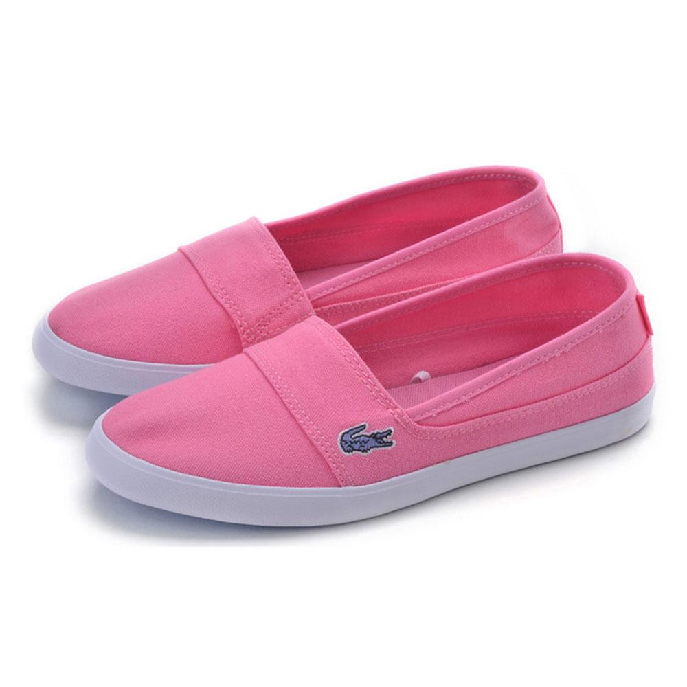 LACOSTE marice 女用休閒帆布懶人鞋-粉紅