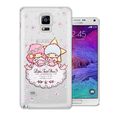 三麗鷗 雙子星仙子 Samsung Galaxy Note4 水鑽系列手機殼(花語蕾絲)
