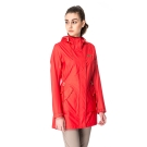 【hilltop山頂鳥】女款DERMIZAX 3L防水防風透氣長大衣H21F16-紅